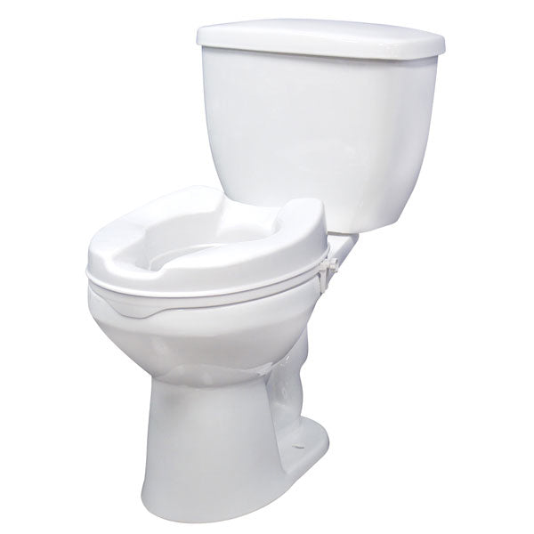 "Raised Toilet Seat with Lock, Standard Seat, 4"" - Discount Homecare & Mobility Products"