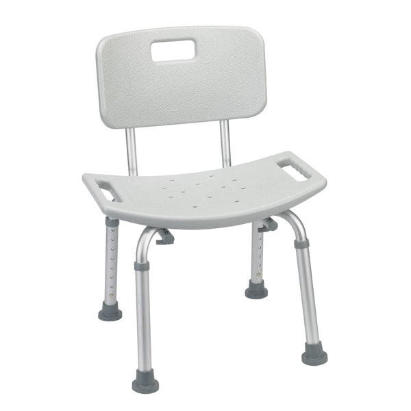 Bathroom Safety Shower Tub Bench Chair with Back, Gray - Discount Homecare & Mobility Products