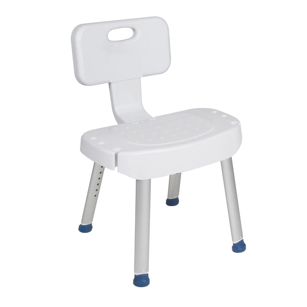 Bathroom Safety Shower Chair with Folding Back - Discount Homecare & Mobility Products