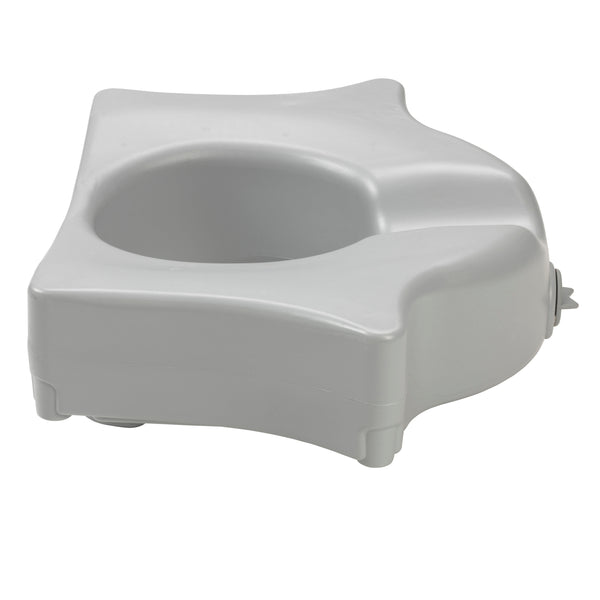 "Heavy Duty Locking Raised Toilet Seat, 5"" - Discount Homecare & Mobility Products"