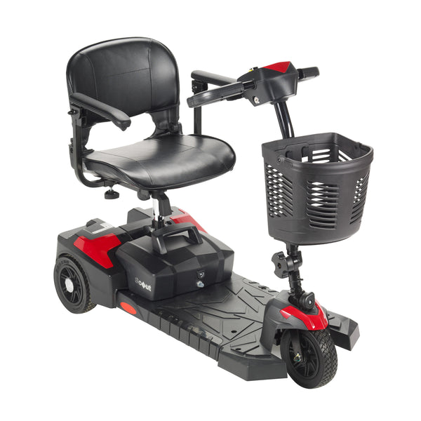 Scout Compact Travel Power Scooter, 3 Wheel, Extended Battery - Discount Homecare & Mobility Products