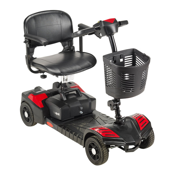 Scout Compact Travel Power Scooter, 4 Wheel, Extended Battery - Discount Homecare & Mobility Products