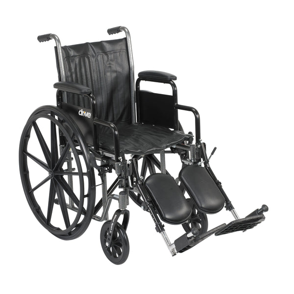 "Silver Sport 2 Wheelchair, Detachable Desk Arms, Elevating Leg Rests, 18"" Seat - Discount Homecare & Mobility Products"