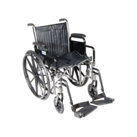 "Silver Sport 2 Wheelchair, Detachable Desk Arms, Swing away Footrests, 18"" Seat - Discount Homecare & Mobility Products"