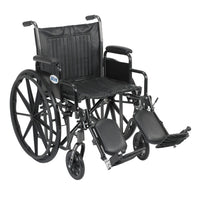 "Silver Sport 2 Wheelchair, Detachable Desk Arms, Elevating Leg Rests, 20"" Seat - Discount Homecare & Mobility Products"