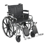"Sentra Extra Heavy Duty Wheelchair, Detachable Desk Arms, Elevating Leg Rests, 20"" Seat - Discount Homecare & Mobility Products"