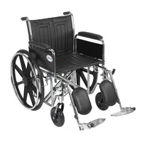 "Sentra EC Heavy Duty Wheelchair, Detachable Full Arms, Elevating Leg Rests, 20"" Seat - Discount Homecare & Mobility Products"