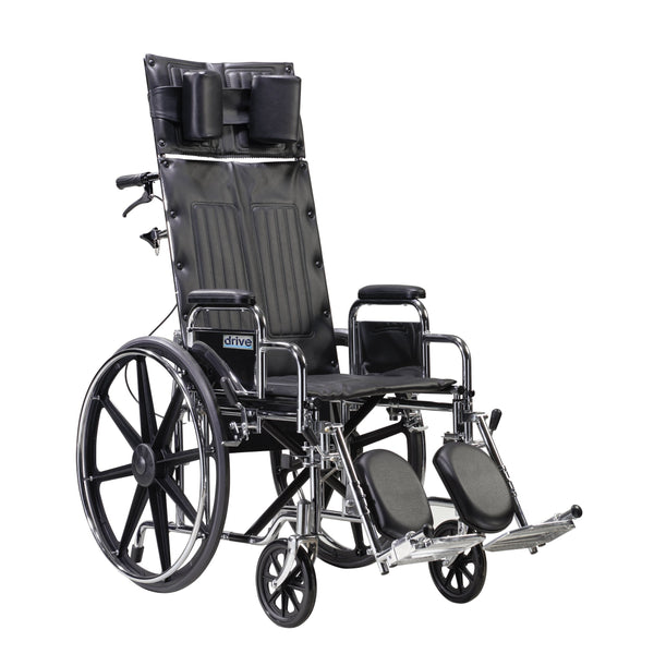 "Sentra Reclining Wheelchair, Detachable Desk Arms, 22"" Seat - Discount Homecare & Mobility Products"