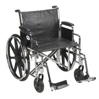 "Sentra EC Heavy Duty Wheelchair, Detachable Desk Arms, Swing away Footrests, 24"" Seat - Discount Homecare & Mobility Products"