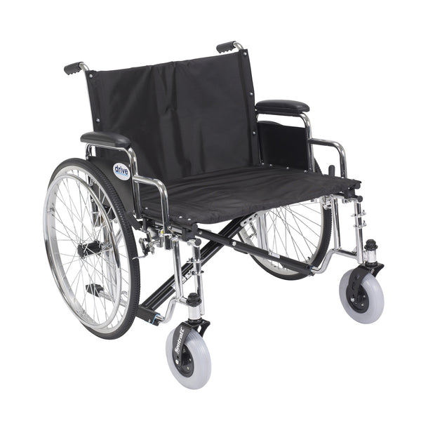 "Sentra EC Heavy Duty Extra Wide Wheelchair, Detachable Desk Arms, 26"" Seat - Discount Homecare & Mobility Products"