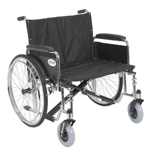 "Sentra EC Heavy Duty Extra Wide Wheelchair, Detachable Full Arms, 26"" Seat - Discount Homecare & Mobility Products"