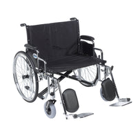 "Sentra EC Heavy Duty Extra Wide Wheelchair, Detachable Desk Arms, Elevating Leg Rests, 28"" Seat - Discount Homecare & Mobility Products"