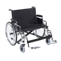 "Sentra EC Heavy Duty Extra Wide Wheelchair, Detachable Desk Arms, Swing away Footrests, 28"" Seat - Discount Homecare & Mobility Products"