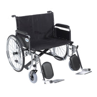 "Sentra EC Heavy Duty Extra Wide Wheelchair, Detachable Full Arms, Elevating Leg Rests, 28"" Seat - Discount Homecare & Mobility Products"