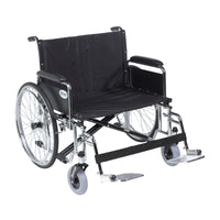 "Sentra EC Heavy Duty Extra Wide Wheelchair, Detachable Full Arms, Swing away Footrests, 28"" Seat - Discount Homecare & Mobility Products"