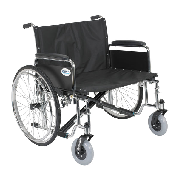 "Sentra EC Heavy Duty Extra Wide Wheelchair, Detachable Full Arms, 28"" Seat - Discount Homecare & Mobility Products"