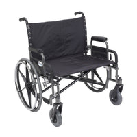 "Sentra Extra Wide Heavy Duty Wheelchair, Detachable Desk Arms, 30"" Seat - Discount Homecare & Mobility Products"