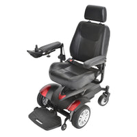 "Titan Transportable Front Wheel Power Wheelchair, Full Back Captain's Seat, 20"" x 20"" - Discount Homecare & Mobility Products"
