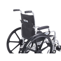 "Poly Fly Light Weight Transport Chair Wheelchair with Swing away Footrests, 16"" Seat - Discount Homecare & Mobility Products"
