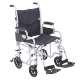 "Poly Fly Light Weight Transport Chair Wheelchair with Swing away Footrests, 20"" Seat - Discount Homecare & Mobility Products"