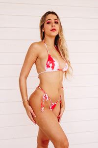 TINA BIKINI SET (RED TIE DYE)