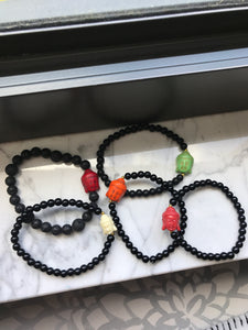 Black Buddha Bracelets - Zoe All Over
