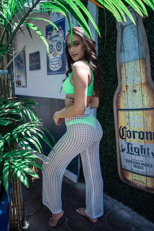 TAHITI CROCHET PANTS (4 COLORS)
