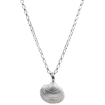 Silver Midi Shell Necklace