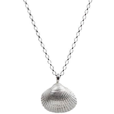 Silver Maxi Shell Necklace