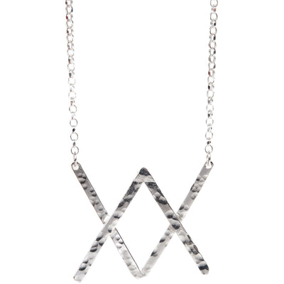 Silver Statement Kiss Necklace