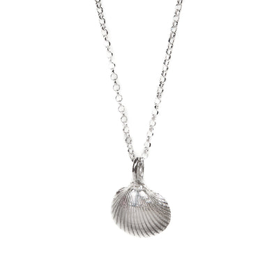 Silver Mini Shell Necklace.