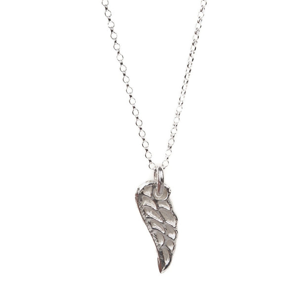 Silver Delicate Angel Wing Necklace