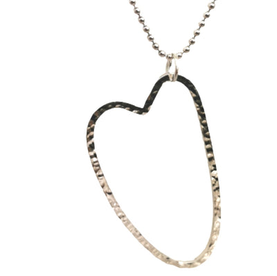 Silver Statement Open Heart Necklace