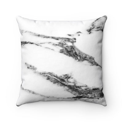 Decorative Pillow - Black and White Marble