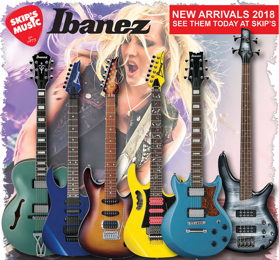 New at Skip's! Ibanez Guitar and Bass 2018 Models and Accessories