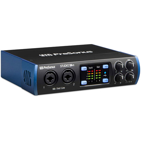 PreSonus Studio 26c 2x4, 192 kHz, USB-C Audio Interface