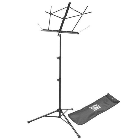 On-Stage Compact Sheet Music Stand (Black, w/ Bag) SM7122BB