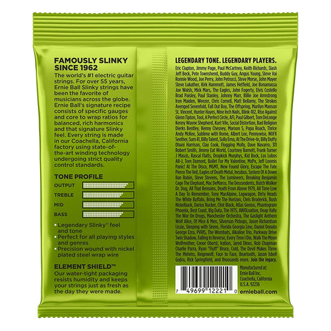 Ernie Ball : 2221 - Regular Slinky Nickel Wound Electric Guitar Strings