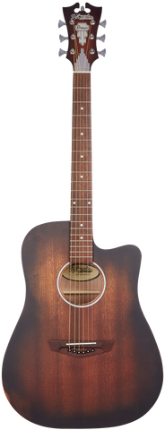 D'Angelico Premier Bowery LS Acoustic/Electric, Aged Mahogany