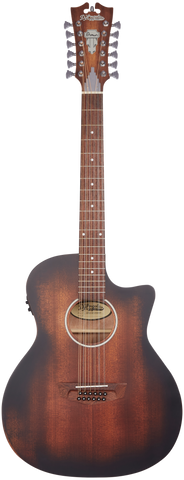 D'Angelico Premier Fulton LS 12-String Acoustic/Electric, Aged Mahogany