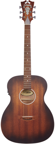 D'Angelico Premier Tammany LS Acoustic/Electric, Aged Mahogany