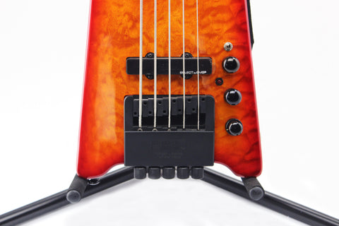 Hohner B2AV-CRS 5-String Headless Bass, Cherry Burst