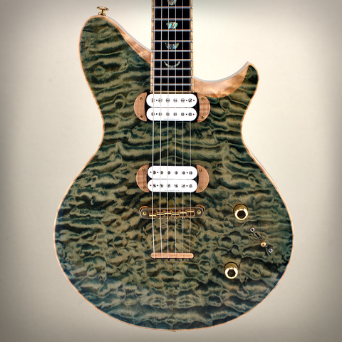 JET Earlewood 295 Green - Handmade By Jeffrey Terwilliger