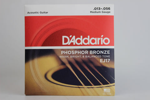 D'Addario EJ17 Phosphor Bronze Medium Acoustic Strings 13-56