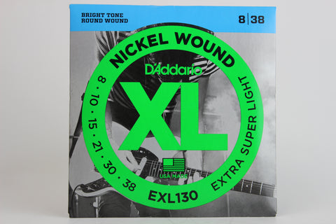 D'Addario EXL130 Nickel Wound Electric Strings - Extra Super Light 8-38