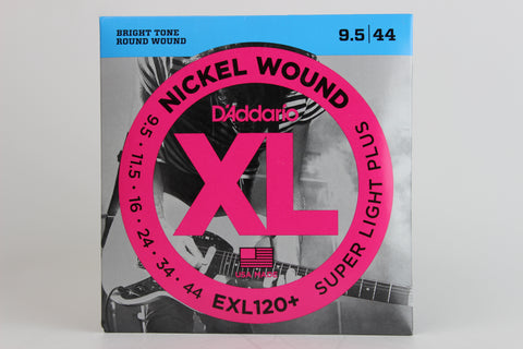 D'Addario EXL120+ Nickel Wound Electric Strings - Super Light Plus 9.5-44
