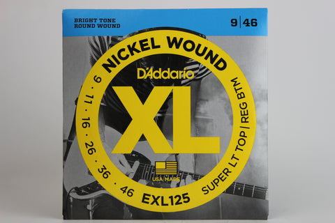 D'Addario EXL125 Nickel Wound Electric Strings - Super Light Top/Regular Bottom 9-46