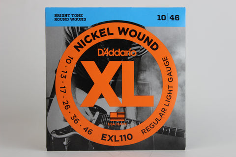 D'Addario EXL110 Nickel Wound Electric Strings - Regular Light 10-46