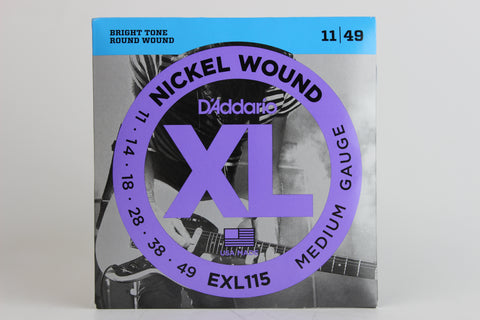 D'Addario EXL115 Nickel Wound Electric Strings - Medium/Blues-Jazz Rock 11-49