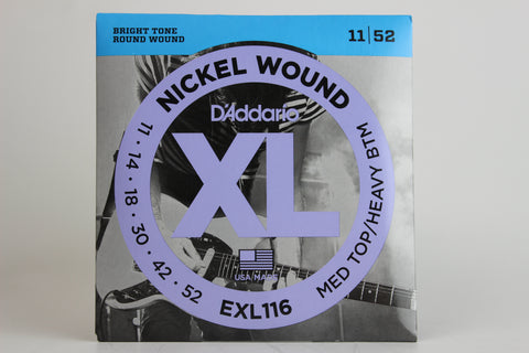 D'Addario EXL116 Nickel Wound Electric Strings - Medium Top/Heavy Bottom 11-52